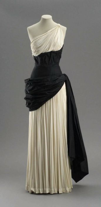 Evening dress by Madame Gres, early 1950's <a class=