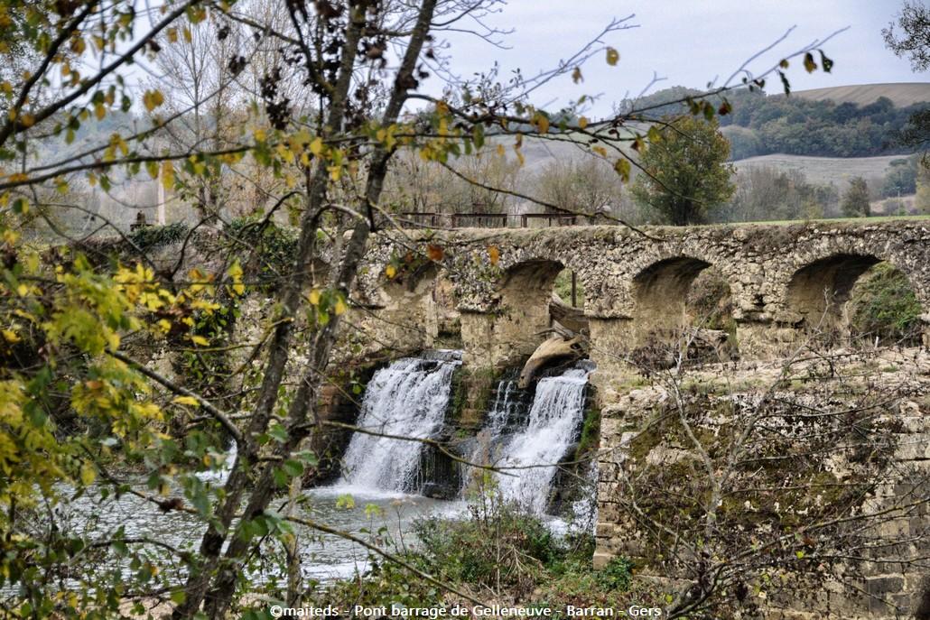 Pont barrage de Gelleneuve - Barran - Gers