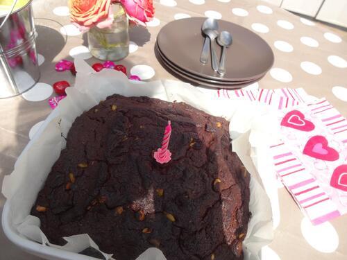 Gâteau au Chocolat et Pistache [Vegan]