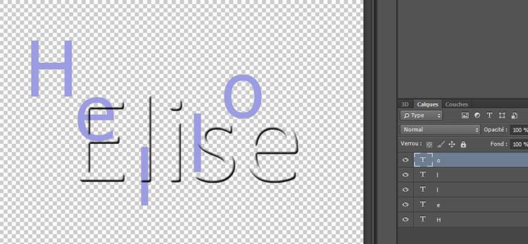 69 La 3D sur lettres séparées