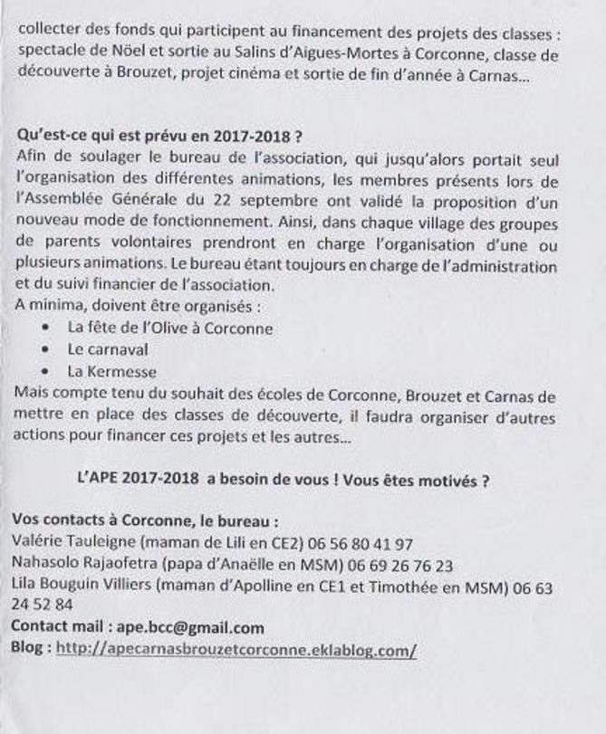 APE : Rôle - Programme - Adhésion