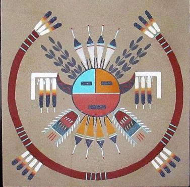 Les peintures sur sable des Navajos ...