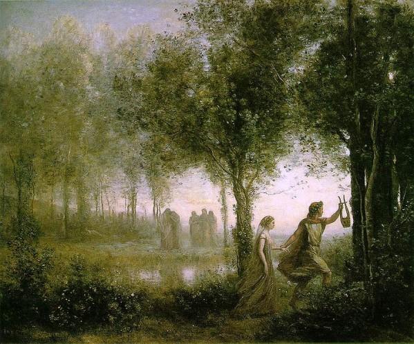 J.Baptiste COROT (Orphée ramenant Eurydice des Enfers)