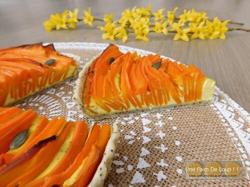 Tarte aux carottes & chèvre frais