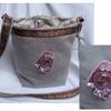 sac cabochon gris-rose