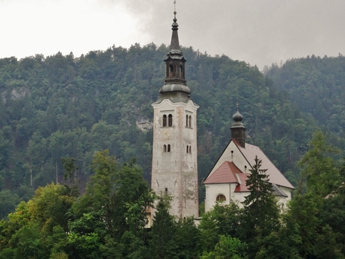 L'église de l'Assomption à Bled en Slovénie (photos)