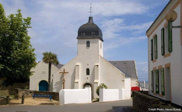L'église de Locmaria, à Belle-Île-en-Mer
