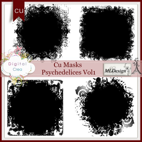 Masks Psychedelices Vol1 et vol2 by MLDesign