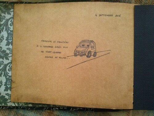Album carnet sépia Portugal