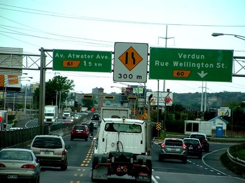Canada: le pont champlain, un pont d'acier sur le Saint-Laurent