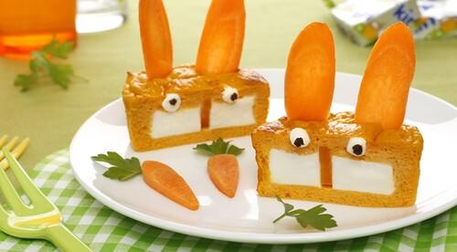 Flan carottes au fromage kiri