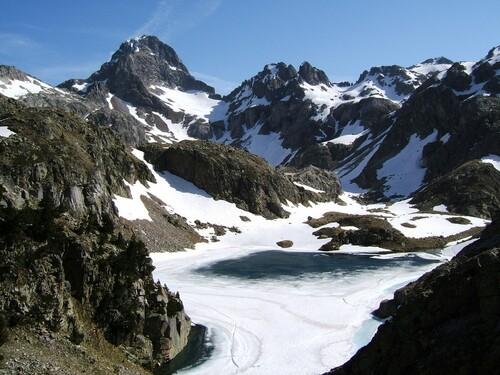 Pic Palas et lac d'Arriel
