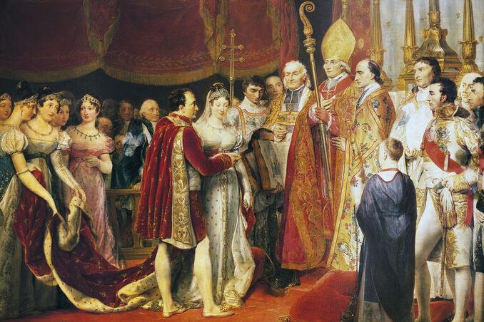 Le mariage religieux de Napoléon Ier et Marie-Louise, par Georges Rouget (château de Versailles)