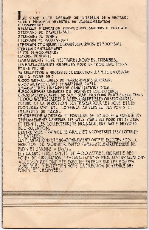 La rare brochure de 1955 sur le Stade