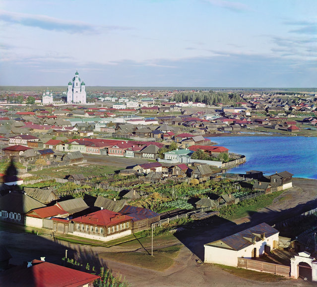 Photos by Sergey Prokudin-Gorsky. View of Kasli. Russia, Perm Province, Yekaterinburg uyezd (district), Kasli town, 1909