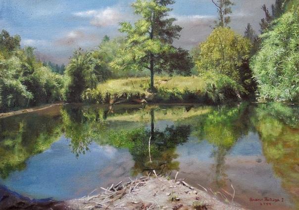 Dessin et peinture - vidéo 1614: Démonstration de la réalisation d'un paysage à la peinture à l'huile, en 7 vidéos - (3 vidéos) 1.