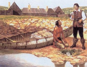 Poutrincourt à Port-Royal, hiver 1610