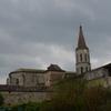 DUNES vue de dos l'église et un pigeonnier