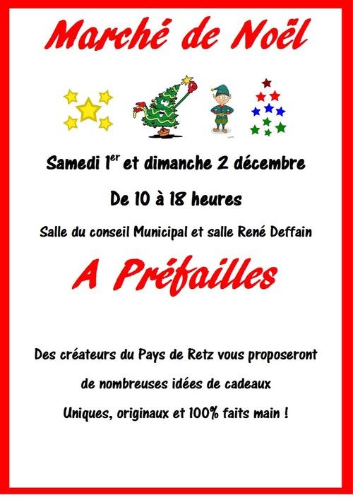 Marché de Noël à Préfailles les 1er et 2 décembre 2018