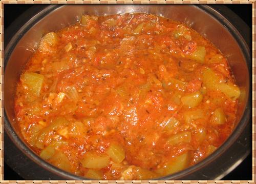 Compotée de Tomates et Courgettes