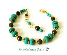 Turquoise/Bronzite Mixed