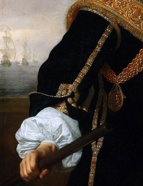 "c0ssette:  Bartholomeus van der Helst ""Portrait of Captain Gideon de Wildt"" 1657,detail."