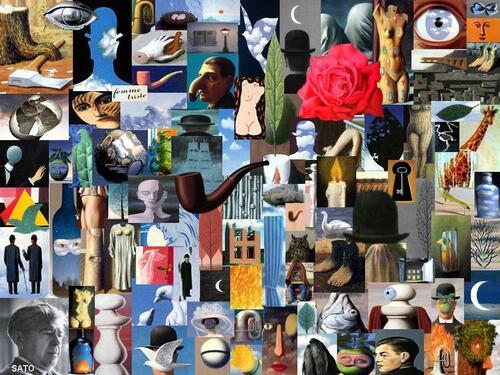 Aveu N°66 : Avant j'avoue, j'avais un frigo... mais aujourd'hui c'est un collage géant de Magritte !