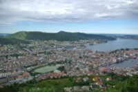 Bergen-vue de Fløyen