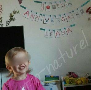 Petit cadeau en l'honneur des 2 ans de notre fille !