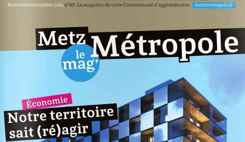 Metz Mag et Metz Métropole le mag' de novembre 2014