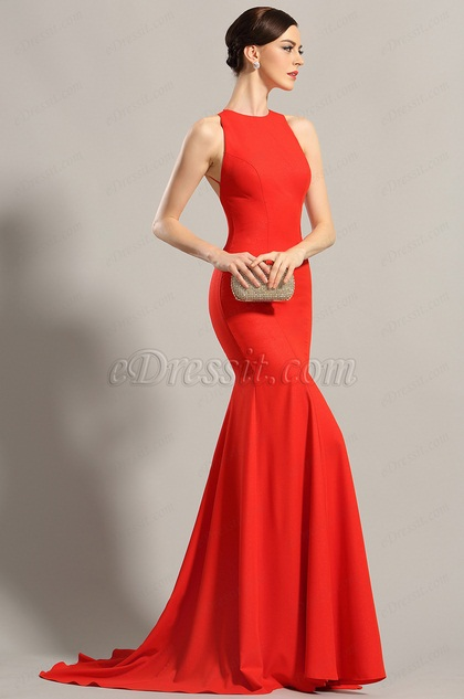 Robe soiree chic rouge