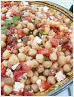 Salade de pois chiches à la mozzarella