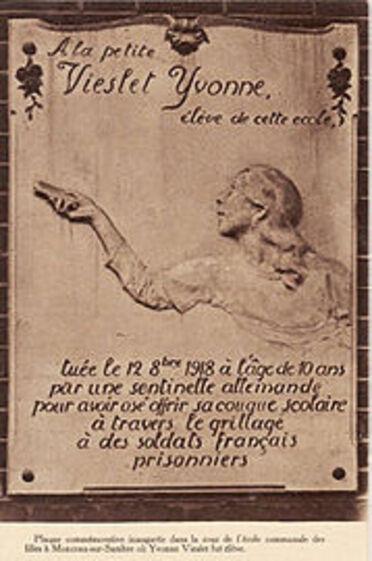 """Résultat de recherche d'images pour """"VOL DE LA STATUE D'YVONNE VIESLET A MARCHIENNE AU PONT"""""""