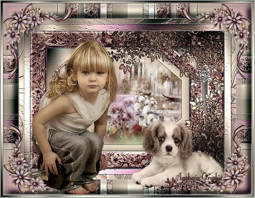 La petite fille et son compagnon