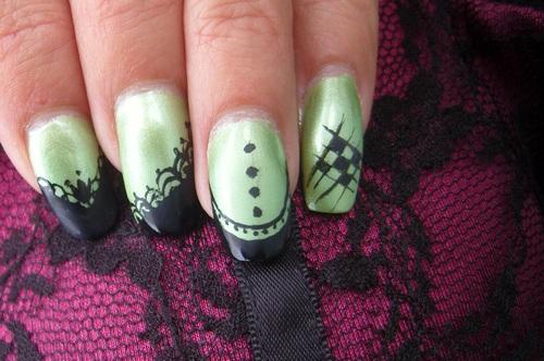 Nail art : Arsenic et vieilles dentelles