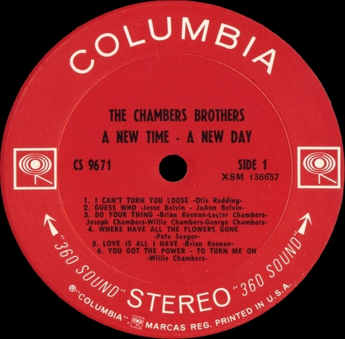 "The Chambers Brothers : Album "" A New Time - A New Day "" Columbia Records CS 9671 [ US ]"