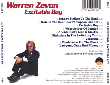 Post-Halloween : Warren Zevon - Excitable Boy (1978)