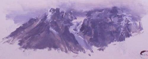 Dessin et peinture - vidéo 1977 : Comment peindre des montagnes dans les nuages ? acrylique ou huile.