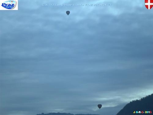 VACANCES: 2013 PRAZ SUR ARLY 74 montgolfières   28/07/2013