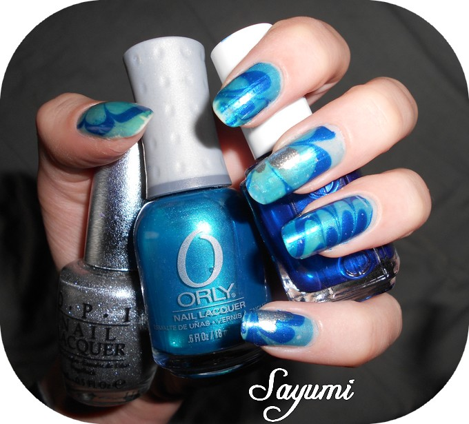 Water Marble Blue Power