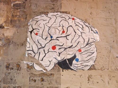 cerveau papier collé