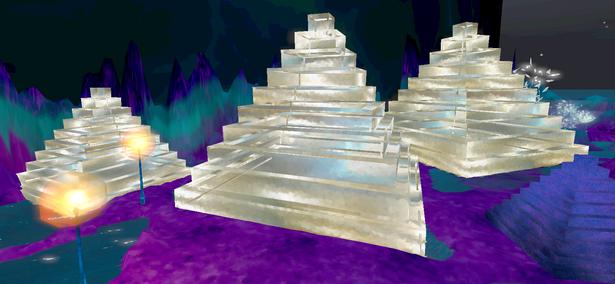 Dame en sa Rosace, et Pyramides