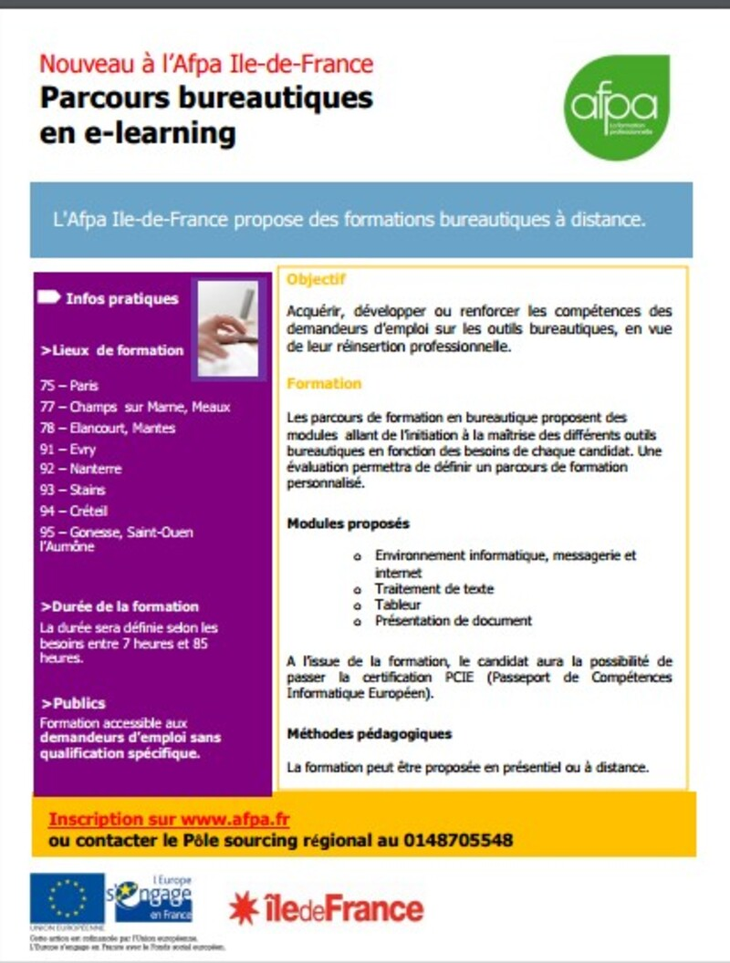 formation - orientation - (page 2) - mission locale sud essonne - Afpa Stains Formation Cuisine