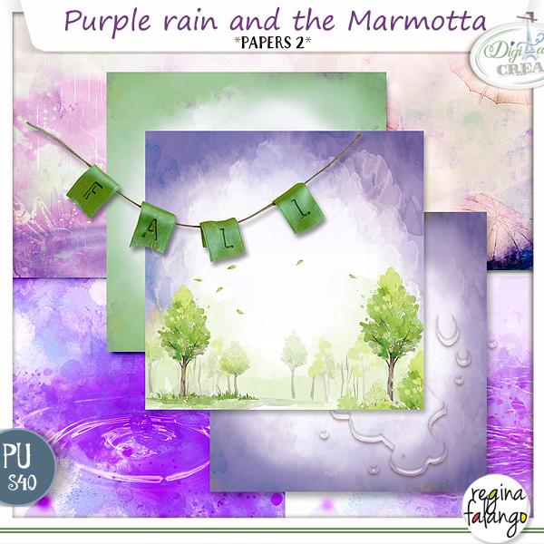 PURPLE RAIN AND THE MARMOTTA BY REGINAFALANGO