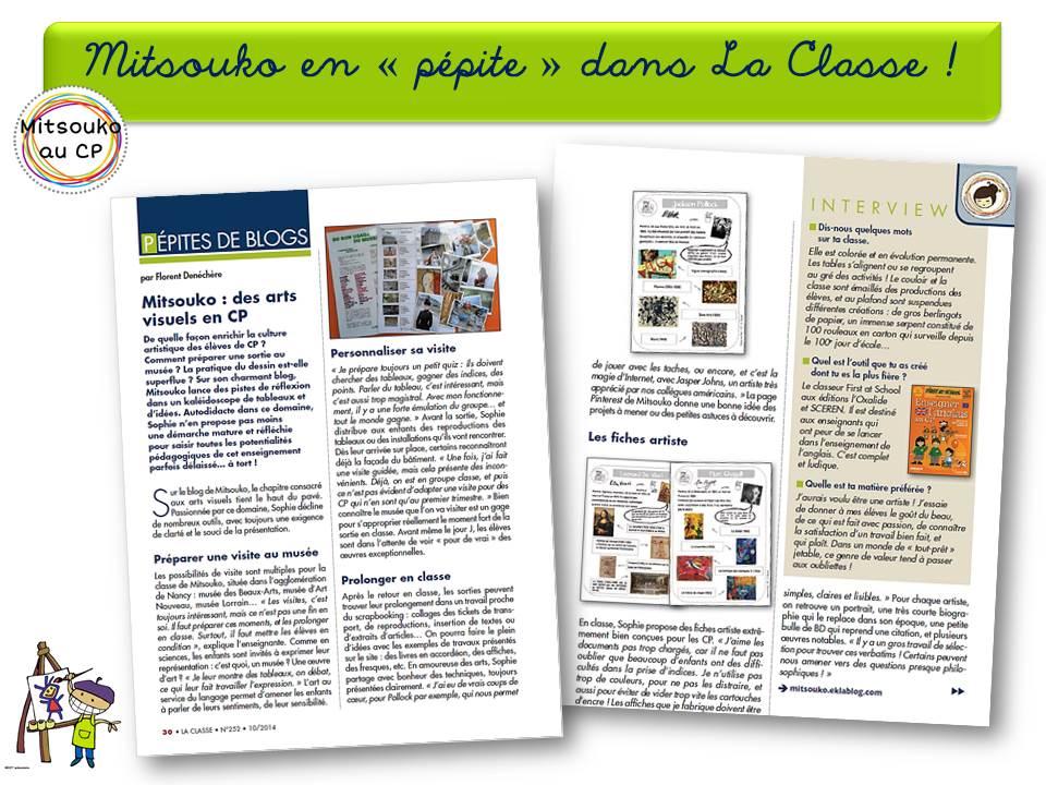 le mag la classe un magazine en or qui d voile des p pites mitsouko au cp. Black Bedroom Furniture Sets. Home Design Ideas