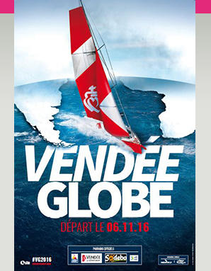 Affiche officielle Vendée Globe 2016-2017