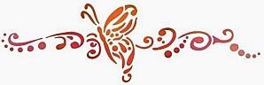 papillon frise stylisee