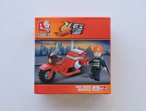SLUBAN - Moto pompier (25 pièces)