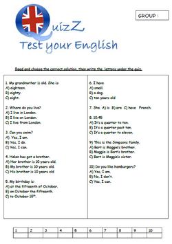 Challenge entre classes en Anglais