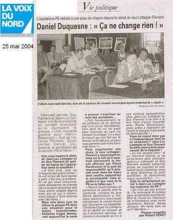 09 25 mai 2004 Duquesnes  ça ne change rien